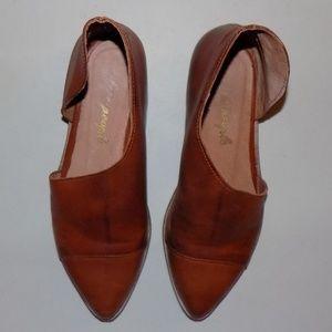 Free People Flat Royale Taupe leather EU 36